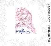 hand drawn womens day... | Shutterstock .eps vector #1028450017