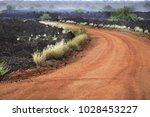 frozen volcanic lava in the...   Shutterstock . vector #1028453227
