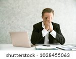 burnout is killing his career  | Shutterstock . vector #1028455063