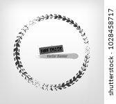 tire track circle grunge frame. ... | Shutterstock .eps vector #1028458717