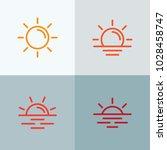 sun icons collection. vector... | Shutterstock .eps vector #1028458747