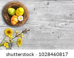 natural easter decoration on... | Shutterstock . vector #1028460817