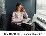 young gorgeous european woman... | Shutterstock . vector #1028462767