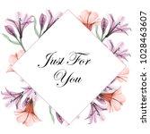 greeting card. floral frames ... | Shutterstock . vector #1028463607