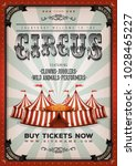 vintage circus background ... | Shutterstock .eps vector #1028465227