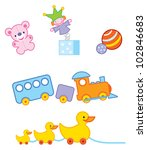 a set of cute toys for... | Shutterstock .eps vector #102846683