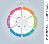 pie infographic  template  the... | Shutterstock .eps vector #1028467603