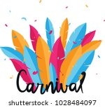 carnival lettering with party... | Shutterstock . vector #1028484097