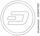 dash   cryptocurrency coin.... | Shutterstock .eps vector #1028497087
