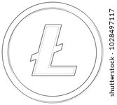 litecoin   cryptocurrency coin. ... | Shutterstock .eps vector #1028497117