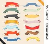 cartoon banners and ribbons ... | Shutterstock .eps vector #102849737