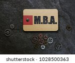 mba  master's of business... | Shutterstock . vector #1028500363