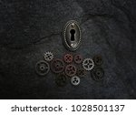 assorted gears with a vintage... | Shutterstock . vector #1028501137