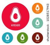 avocado icons circle set vector ... | Shutterstock .eps vector #1028517943