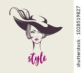 fashion illustration of a... | Shutterstock .eps vector #1028519827