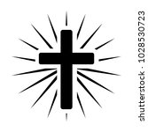 cross with light coming out of... | Shutterstock .eps vector #1028530723