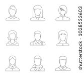 look icons set. outline set of... | Shutterstock .eps vector #1028533603