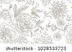 peonies and roses. floral... | Shutterstock .eps vector #1028533723
