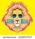 animal head t shirt design... | Shutterstock .eps vector #1028537527
