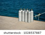 eight cylinders with air for...   Shutterstock . vector #1028537887
