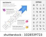 maternity timeline infographic... | Shutterstock .eps vector #1028539723