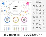 fast food circle infographic... | Shutterstock .eps vector #1028539747