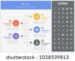 music infographic timeline... | Shutterstock .eps vector #1028539813