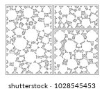 template for cutting. circle ... | Shutterstock .eps vector #1028545453