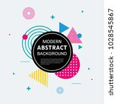abstract colorful with black... | Shutterstock .eps vector #1028545867
