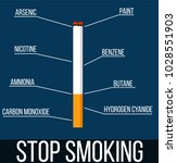 stop smoking cigarette with... | Shutterstock .eps vector #1028551903