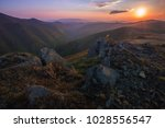 scenic image of  big stones on... | Shutterstock . vector #1028556547