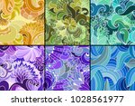 A Set Of Six Color Abstract...