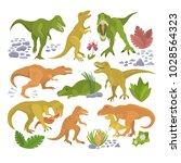 dinosaur vector tyrannosaurus... | Shutterstock .eps vector #1028564323