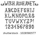 witch spooky and magical... | Shutterstock .eps vector #1028580577
