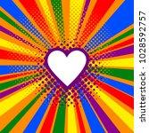 rainbow or pride flag. lgbt... | Shutterstock .eps vector #1028592757