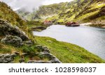 fairytale mountain lake balea ... | Shutterstock . vector #1028598037