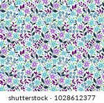 vintage floral background.... | Shutterstock .eps vector #1028612377