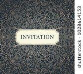 wedding invitation template.... | Shutterstock .eps vector #1028614153