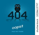 error 404 oops page not found.... | Shutterstock .eps vector #1028615797