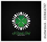 patrick day food menu  | Shutterstock .eps vector #1028616787