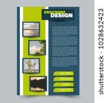 flyer design template. brochure ... | Shutterstock .eps vector #1028632423