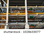 a small chemical plant with all ... | Shutterstock . vector #1028633077