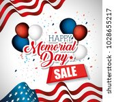 happy memorial day sale | Shutterstock .eps vector #1028655217