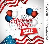 happy memorial day sale | Shutterstock .eps vector #1028655217