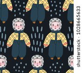 seamless pattern with cute... | Shutterstock .eps vector #1028665633