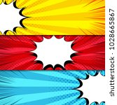 comic book horizontal banners... | Shutterstock .eps vector #1028665867