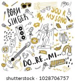 various object in doodle style  ... | Shutterstock .eps vector #1028706757