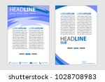 magazine cover abstract style... | Shutterstock .eps vector #1028708983