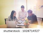 business people meeting design... | Shutterstock . vector #1028714527