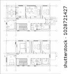 house building plan   Shutterstock .eps vector #1028721427